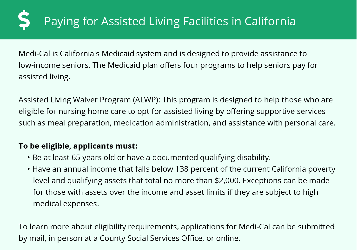 Financial Assistance in California