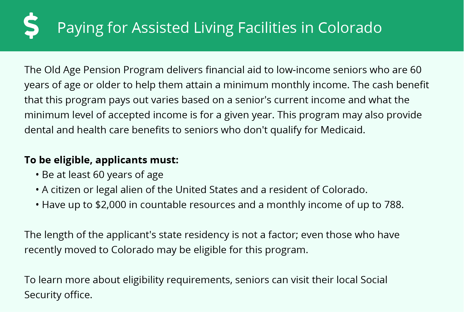 Financial Assistance in Colorado