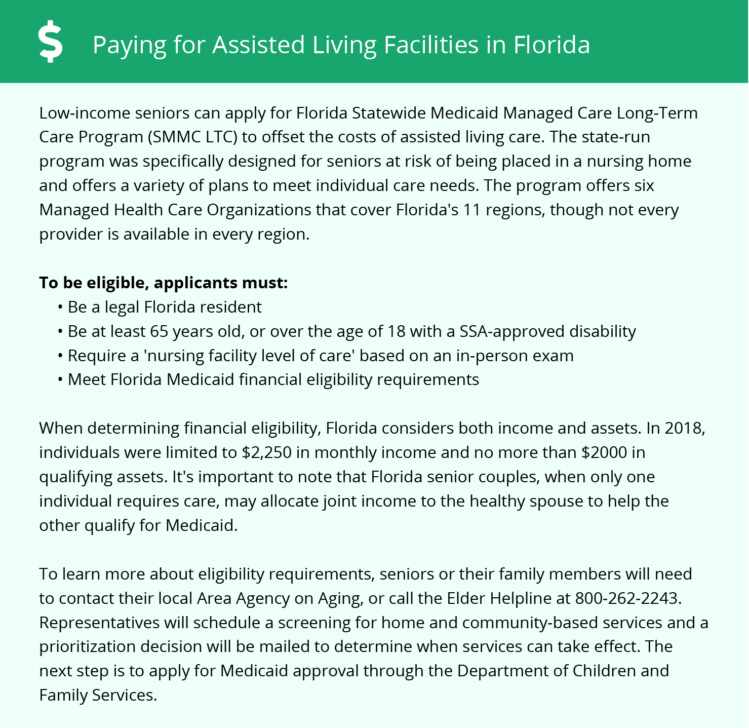 Financial Assistance in Florida