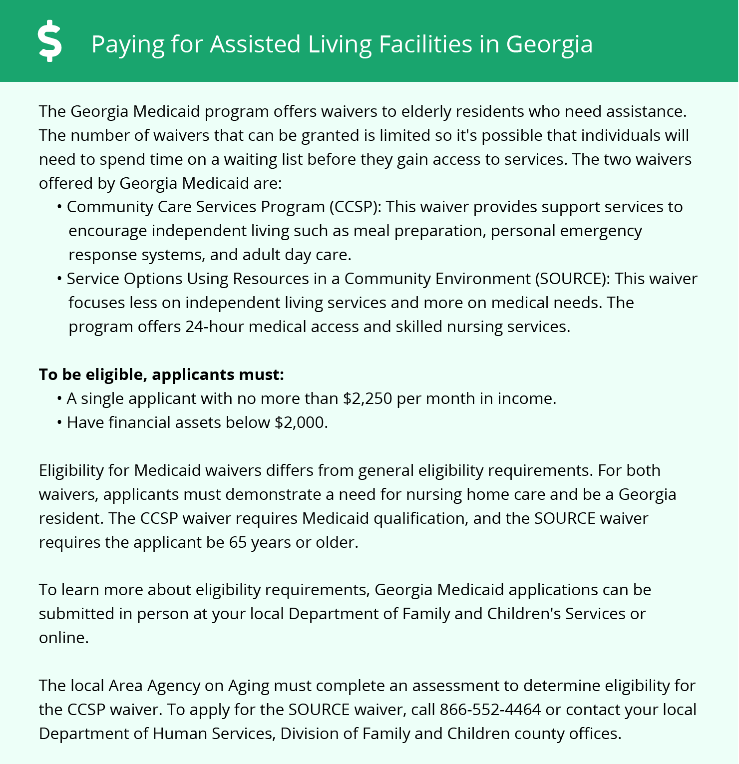 Financial Assistance in Georgia