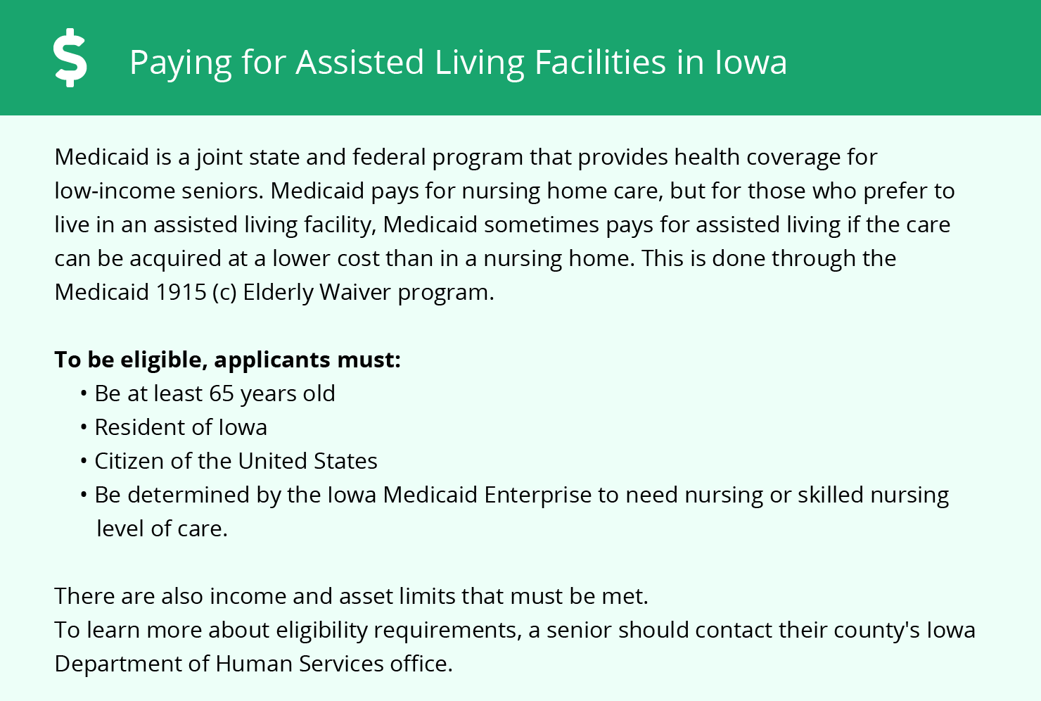 Financial Assistance in Iowa