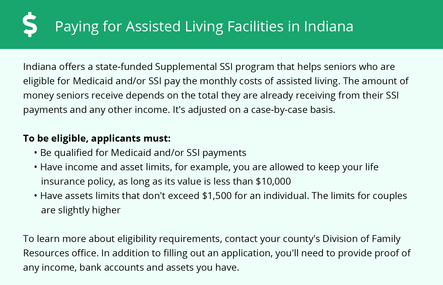 Financial Assistance in Indiana