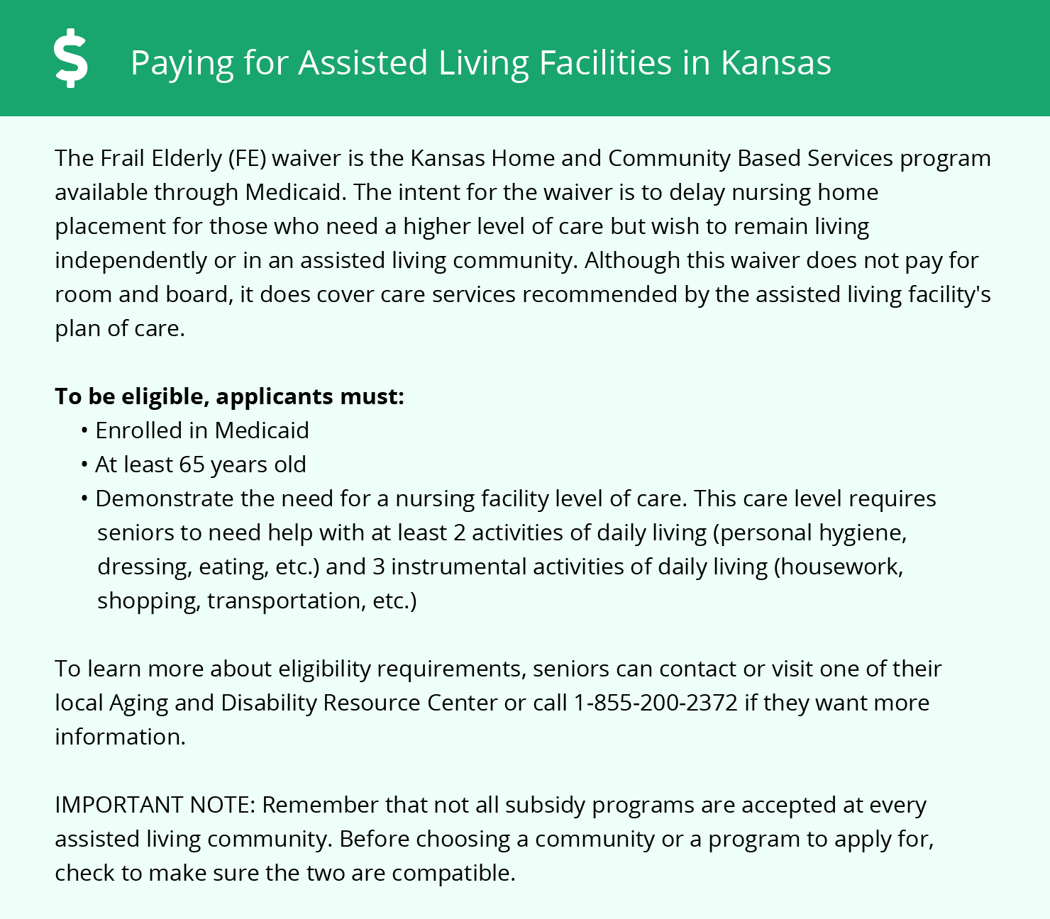 Financial Assistance in Kansas