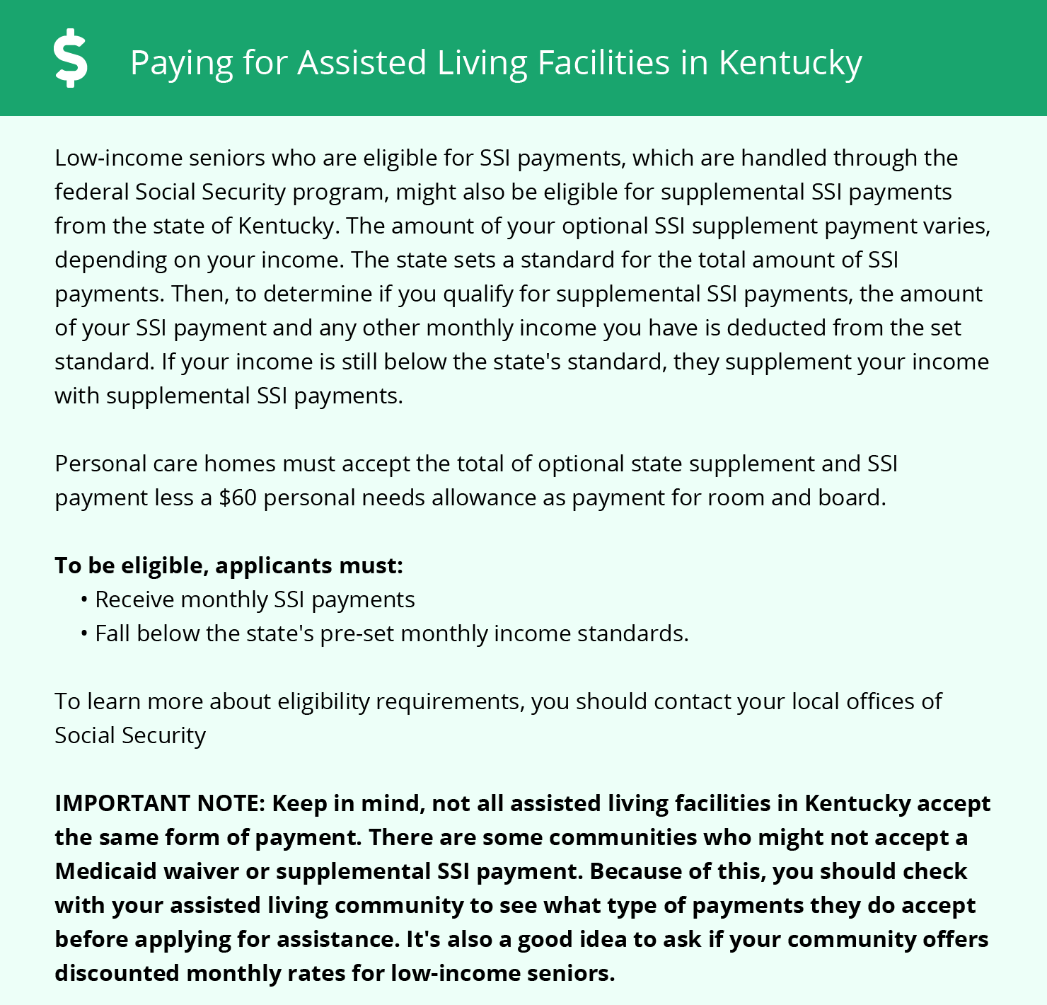 Financial Assistance in Kentucky