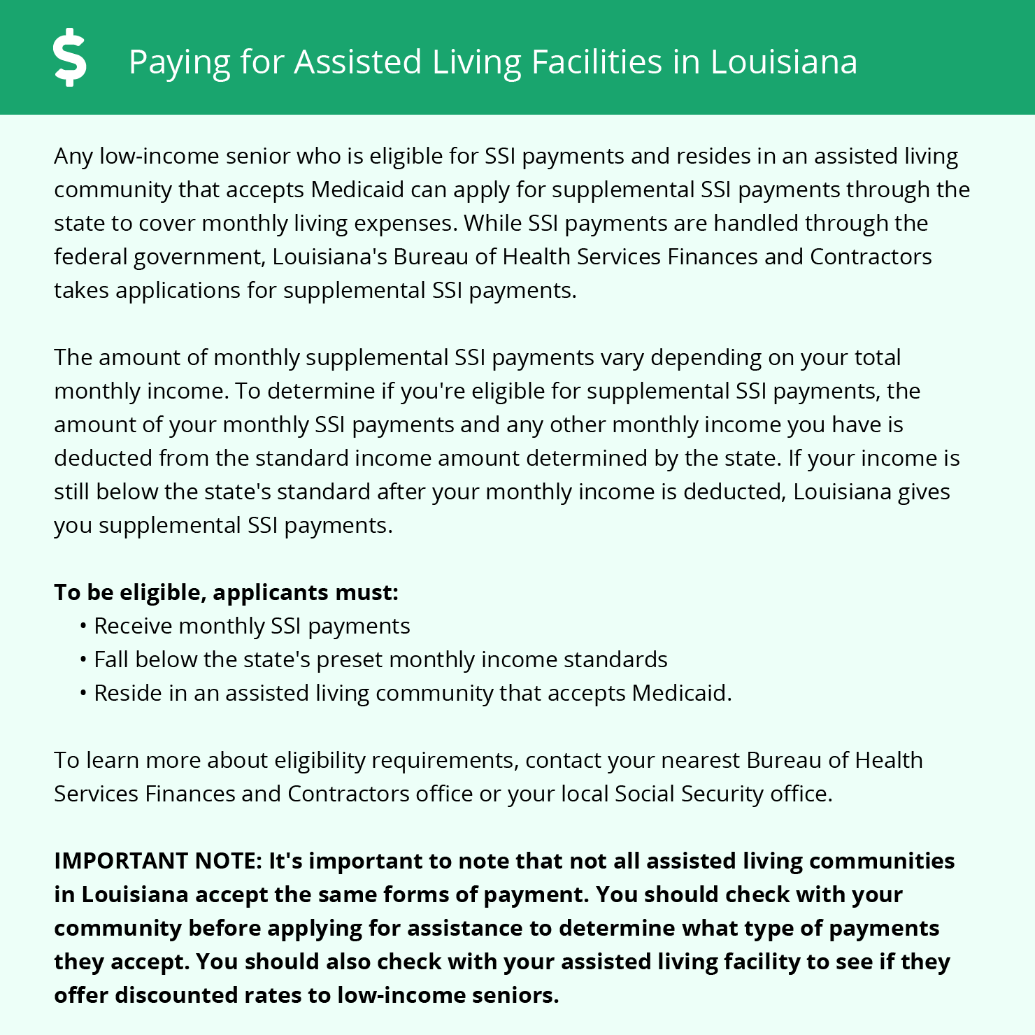 Financial Assistance in Louisiana