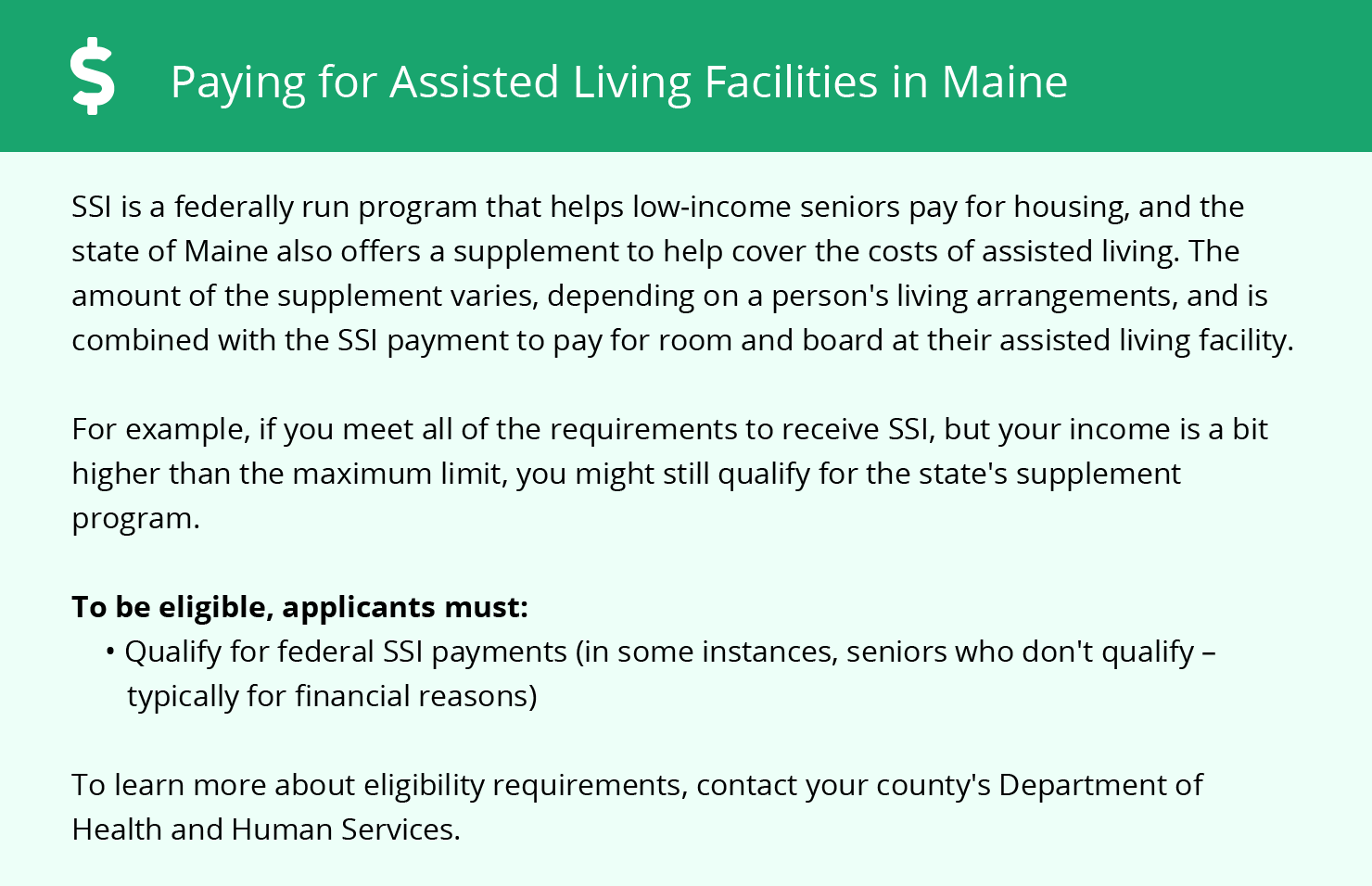 Financial Assistance in Maine