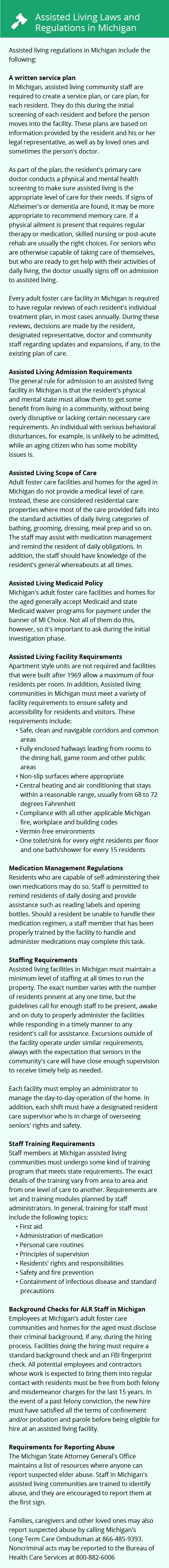 Laws and Regulations in Michigan