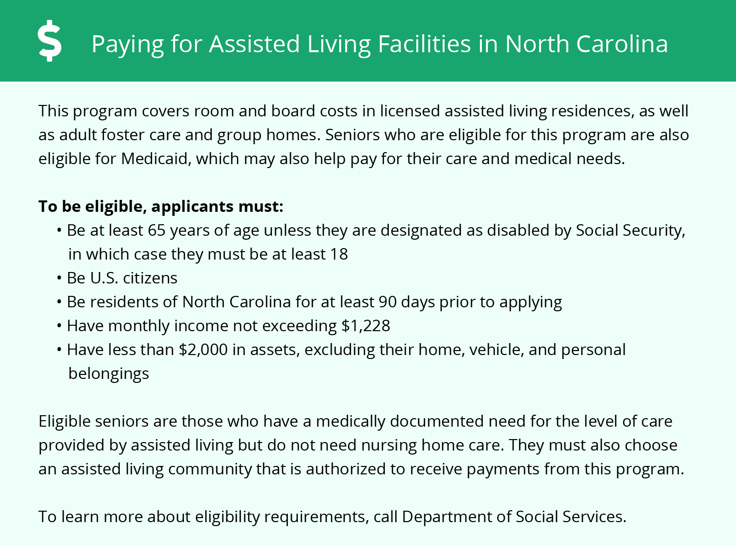 Financial Assistance in North Carolina
