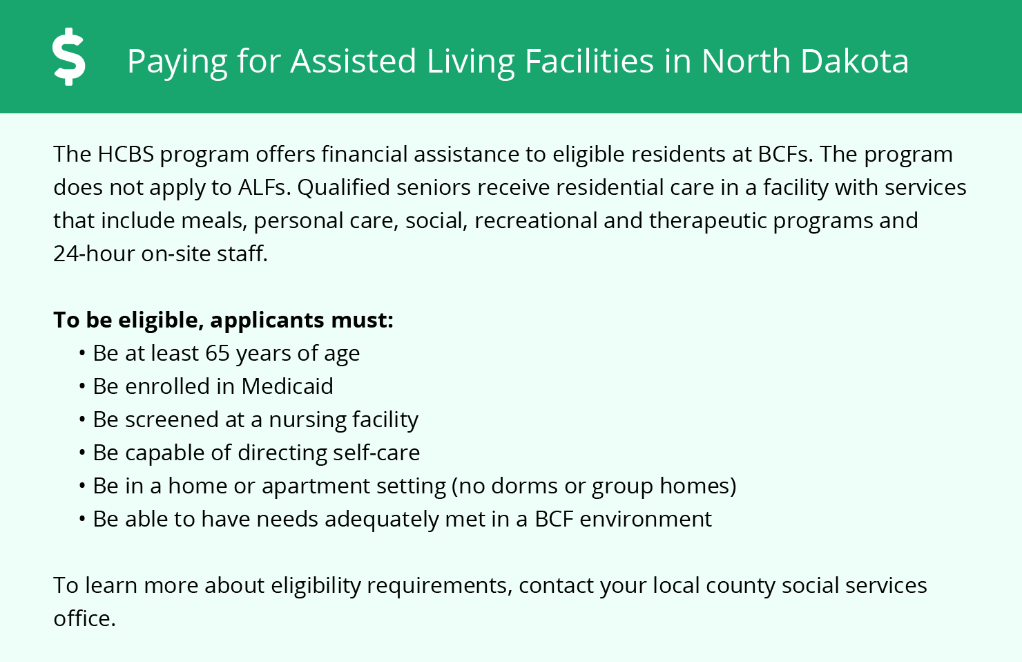 Financial Assistance in North Dakota