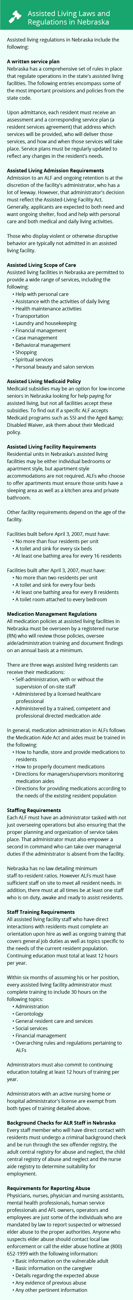 Laws and Regulations in Nebraska