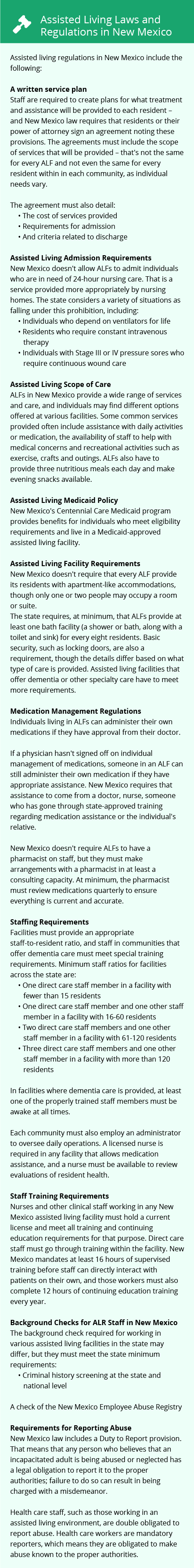Laws and Regulations in New Mexico