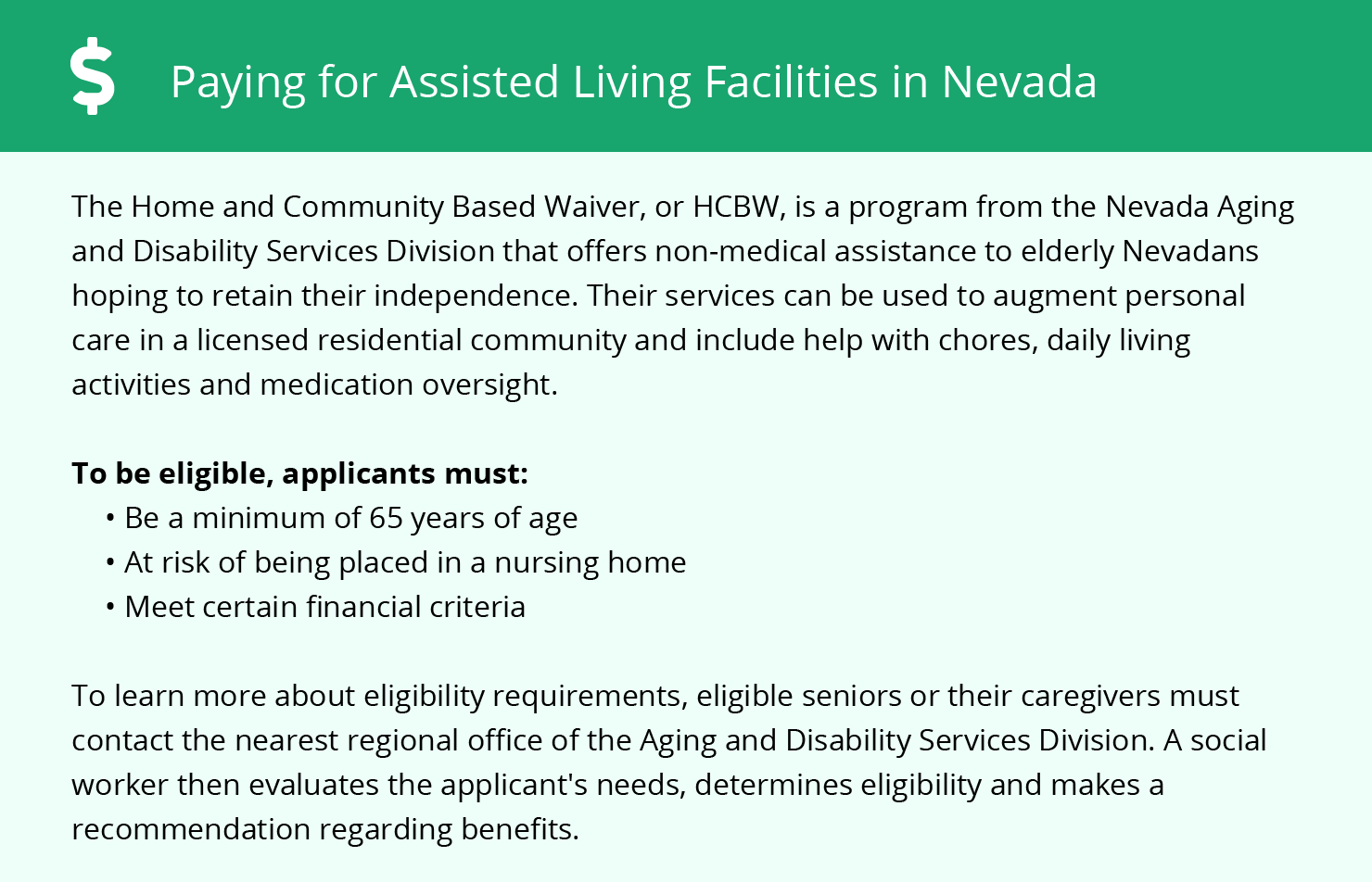 Financial Assistance in Nevada