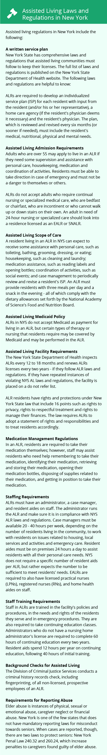Laws and Regulations in New York
