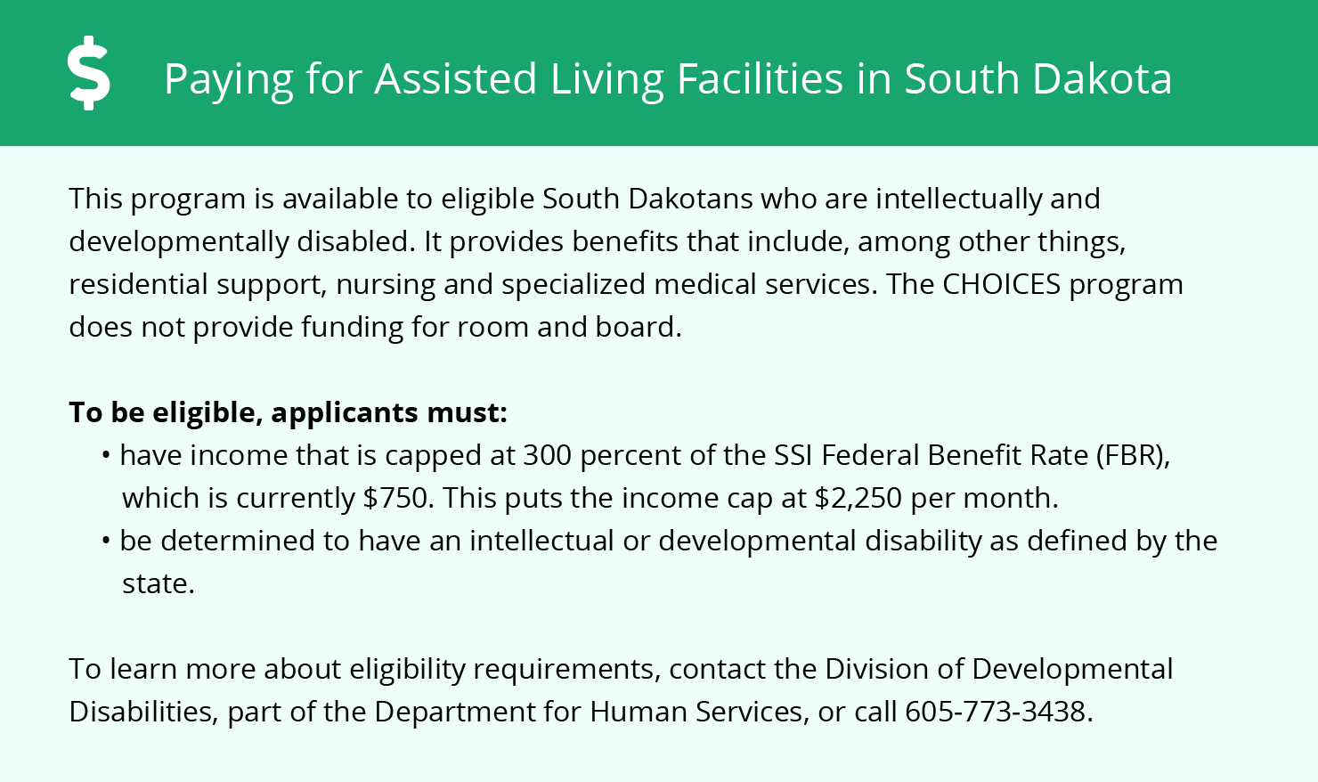 Financial Assistance in South Dakota