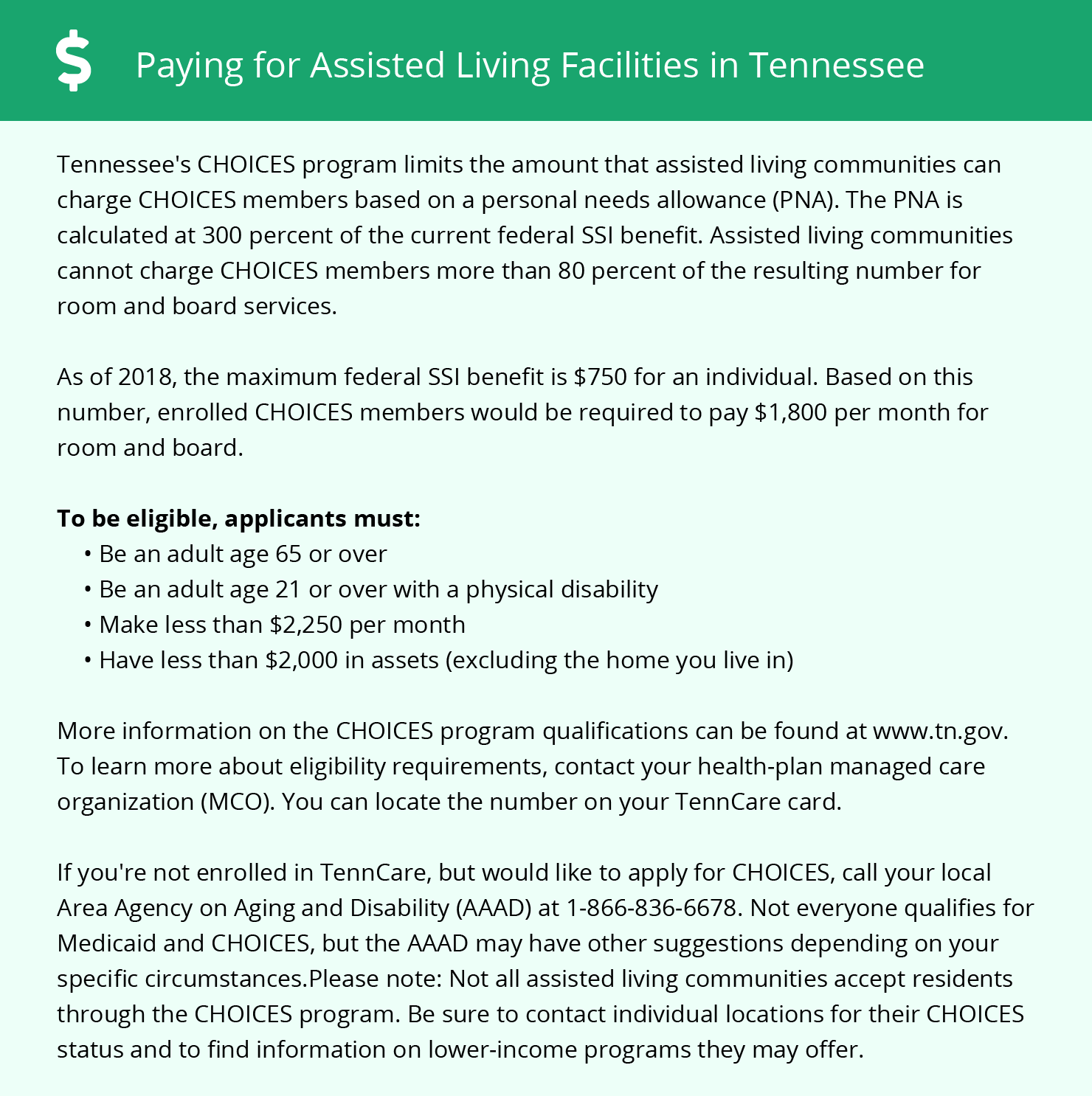 Financial Assistance in Tennessee