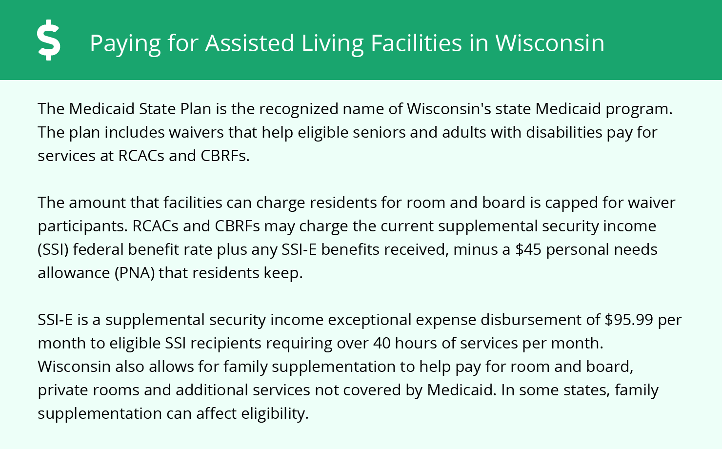 Financial Assistance in Wisconsin