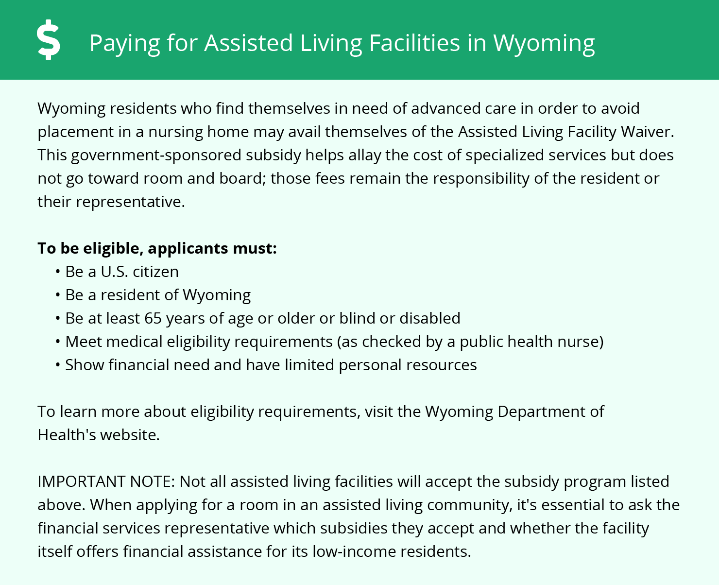 Financial Assistance in Wyoming