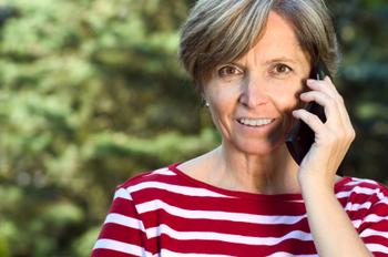 Woman talks on the phone