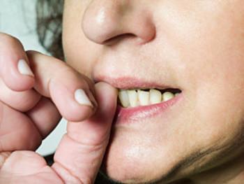 biting nails