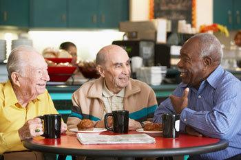 senior men drinking