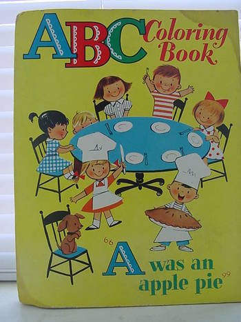 Vintage ABC Coloring book