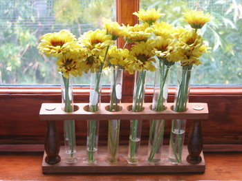 test tube flowers