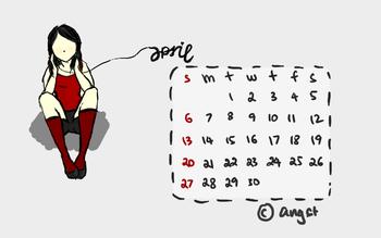 Desktop Calendar 04/2008