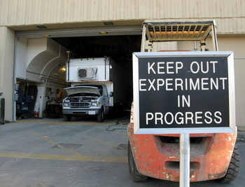Keep Out Experiment In Progress