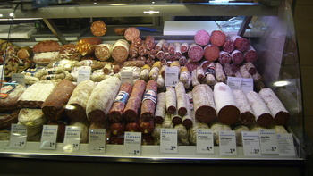 One of the many charcuterie cases