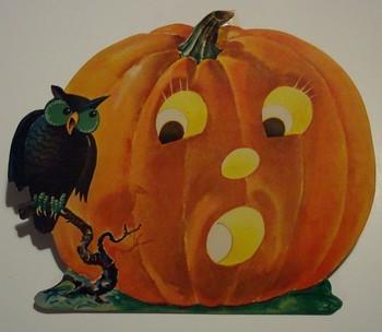 Vintage Halloween Diecut Jack-O-Lantern