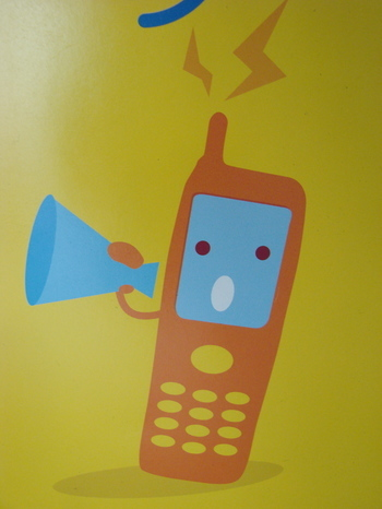 Mobile phone with a megaphone