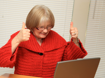 woman finding something she wanted online