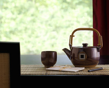 teapot and writing