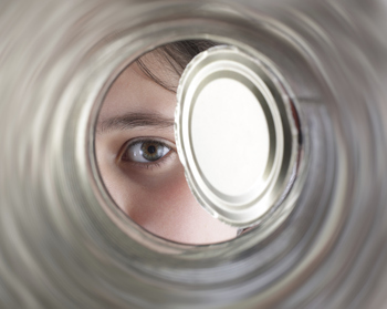 Inside a tin can