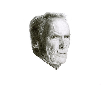 Drawing - Clint portrait